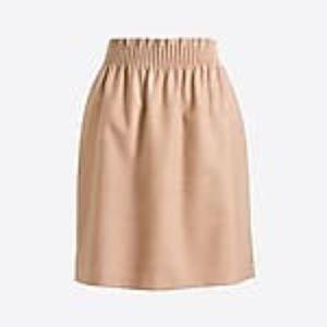 J Crew Wool Side Walk Skirt in Tan